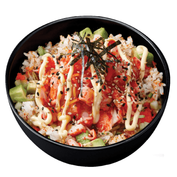 Poke Bowls Spicy Shrimp