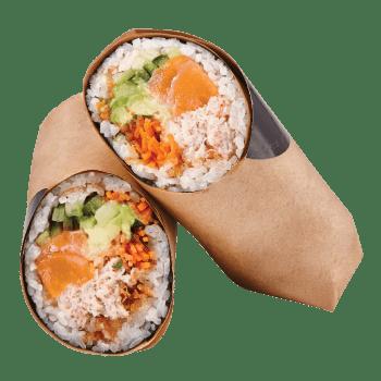 Sushi Burrito Saumon & crabe