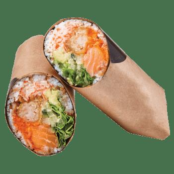 Sushi Burrito Saumon & crevette tempura