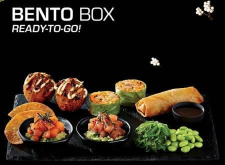 New Bento Boxes with sushis ready to go