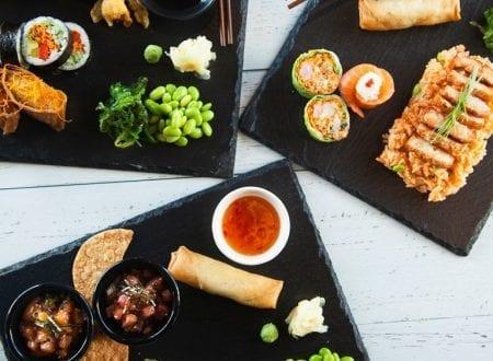 Assiettes de sushis variés à partager