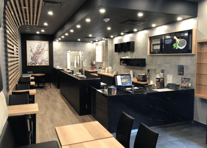 Dining room of the Sushi Shop restaurant at York University