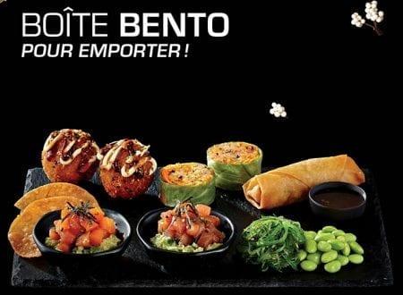 Nouvelles boîtes à Bento avec sushis prêts pour emporter