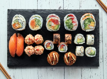 Variety of sushi combo for 2 from Sushi Shop restaurants