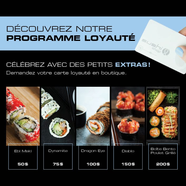 Programme Loyauté Sushi Shop